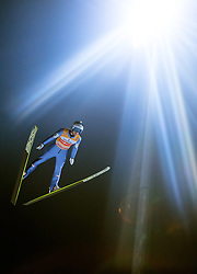 06.01.2015, Paul Ausserleitner Schanze, Bischofshofen, AUT, FIS Ski Sprung Weltcup, 63. Vierschanzentournee, Finale, im Bild Michael Hayboeck (AUT) // Michael Hayboeck of Austria during Final Jump of 63rd Four Hills <br /> Tournament of FIS Ski Jumping World Cup at the Paul Ausserleitner Schanze, Bischofshofen, Austria on 2015/01/06. EXPA Pictures &copy; 2015, PhotoCredit: EXPA/ JFK