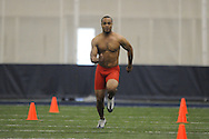 Mississippi football player Lionel Breaux at Pro Day in the IPF in Oxford, Miss. on Tuesday, March 22, 2011.