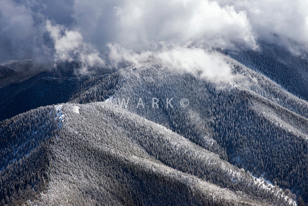 Clearing winter storm, Sangre de Cristo mountains