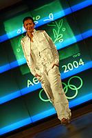 Idrett, 9. juni 2004, presentasjon av OL-kolleksjon foran OL i Athen 2004, modell