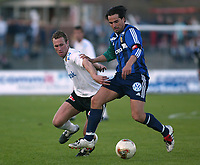 Bærum 21042003 Eliteserien i fotball Stabæk - Odd. Martin Andresen, Stabæk i duell med Alexander Aas, Odd.<br /> <br /> Foto: Andreas Fadum, Digitalsport
