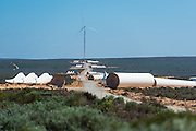 Wind Turbines ready for erection