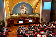 "ROME, ITALY - NOVEMBER 11: The meeting for the beginning of the pastoral year where the Caritas of Rome presents the Report ""Poverty in Rome: a point of view""on November 11, 2017 in Rome, Italy. (Photo by Stefano Montesi)"