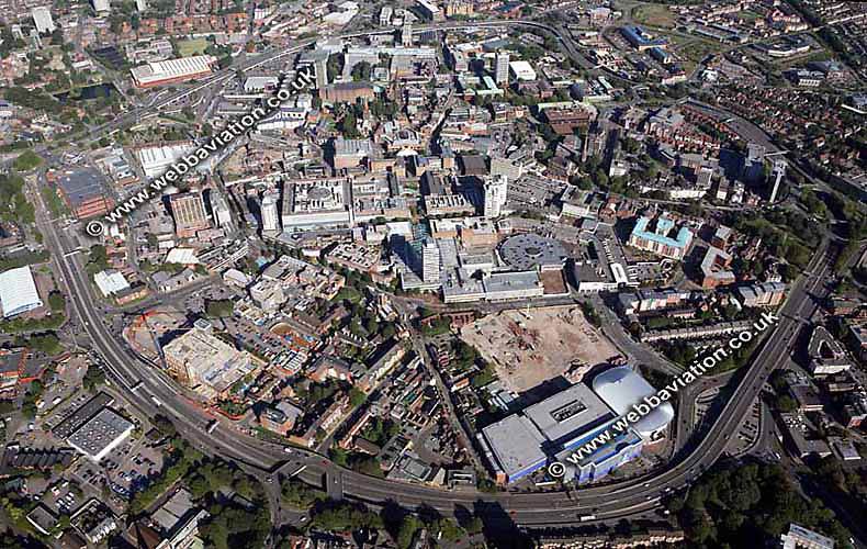 aerial photograph of Coventry West Midlands England  UK