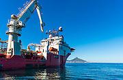 Boa Sub C Multi purpose Offshore Vessel anchored outside Cape Town Port