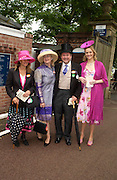 Mrs. Edmund Holloway, Georgine Thorburn,  Lord Biddulph and the hon Camilla Conolly-Carew. Royal Ascot Race meeting Ascot at York. Wednesday, 15 June 2005. ONE TIME USE ONLY - DO NOT ARCHIVE  © Copyright Photograph by Dafydd Jones 66 Stockwell Park Rd. London SW9 0DA Tel 020 7733 0108 www.dafjones.com