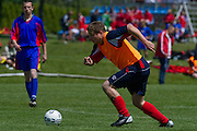 Dominik Szczepanski during soccer tournament of Special Olympics Poland in Gutow near Lodz, May 18, 2012...Poland, Gutow near Lodz, May 18, 2012...Picture also available in RAW (NEF) or TIFF format on special request...For editorial use only. Any commercial or promotional use requires permission...Photo by © Adam Nurkiewicz / Mediasport