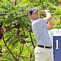 Rob Oppenheim on the first tee during the LeCom Health Challenge Web.com PGA Tour at Peek n Peak July 8, 2017 photo by Mark L. Anderson