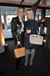 Left to right, NADJA SWAROVSKI and CAROLINE HABIB at the launch of One Hyde Park, The Residences at Mandarin Oriental, Knightsbridge, London on 19th January 2011.