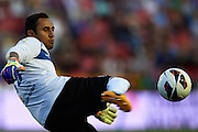 VALENCIA, SPAIN - JUNE 01: Keylor Navas of Levante UD in action during the Liga BBVA between Levante UD and Real Betis Balompie at the Ciutat de Valencia stadium on June 01, 2013 in Valencia, Spain. (Photo by Aitor Alcalde Colomer).