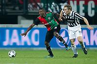 NIJMEGEN - NEC - Achilles 29, Voetbal KNVB beker, seizoen 2011-2012, 21-12-2011, Stadion de Goffert, NEC speler Abdisalam Ibrahim (L), Achilles 29 speler Daan Paau (R).