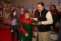 Christmas Village opening night with Mayor Benjamin Phillips.  Karen Bobotas for the Laconia Daily Sun