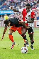 ROTTERDAM - Feyenoord - Valencia , Eredivisie, Voetbal, Seizoen 2016-2017, Feyenoord stadion de Kuip23-07-2016 , Feyenoord speler Eljero Elia (r) if Valencia speler Joao Cancelo (l)