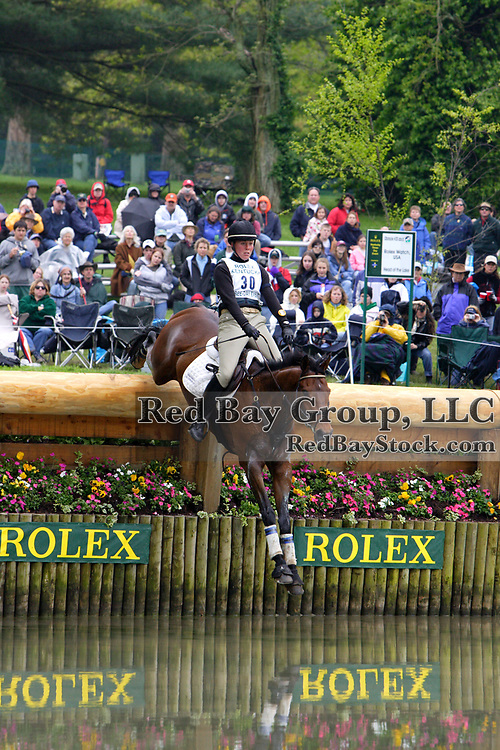 Rebecca Howard (CAN) and Big Wave Dave at the 2005 Rolex Kentucky Three-Day Event.