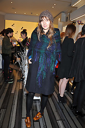 VALENTINE FILOL CORDIER at a party to celebrate the launch of a limited edition shoe The Chambord in celebration of Nicholas Kirkwood's partnership with Chambord black raspberry liqueur, held at the Nicholas Kirkwood Boutique, 5 Mount Street, London on 12th December 2012.