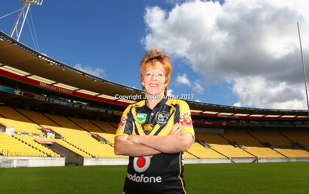 Celia Wade-Brown Mayor of Wellington poses for a photo. Vodafone Warriors in Wellington - Vodafone Warriors hold a press conference in Wellington ahead of their clash with the Bulldogs on Saturday 11 May 2013. Westpac Stadium, Wellington, New Zealand on 20 March 2013. Photo: Justin Arthur / photosport.co.nz