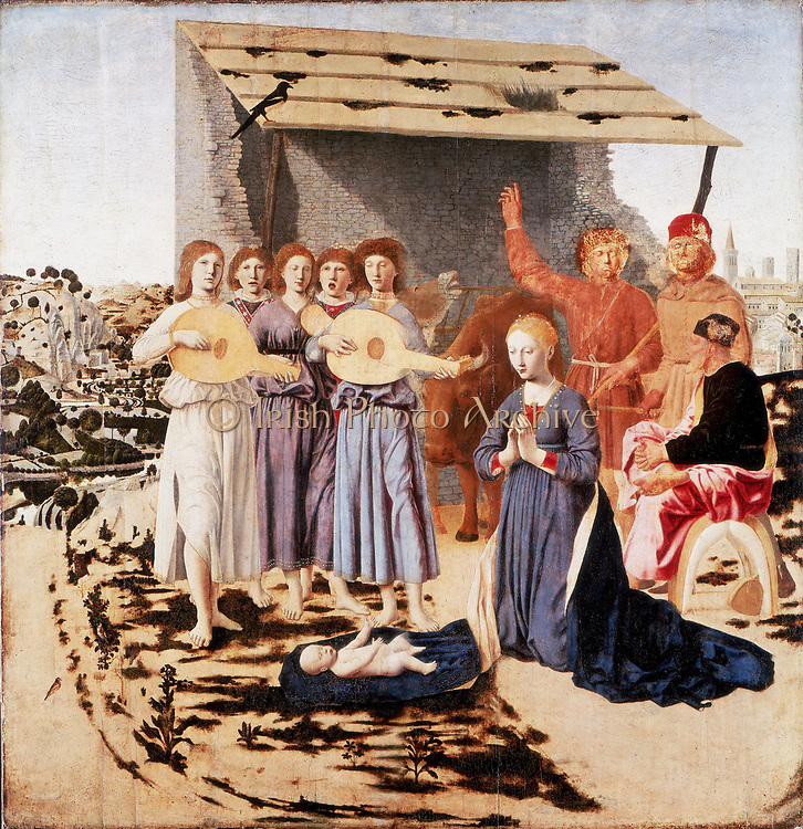 The Nativity' 1470-1485: Piero della Francesca (c1422-1492) Italian artist.