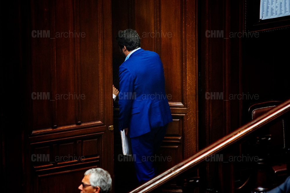 Matteo Salvini. Confidence vote for the new government at the Italian Chamber of Deputies on June 6, 2018 in Rome, Italy. Christian Mantuano / OneShot