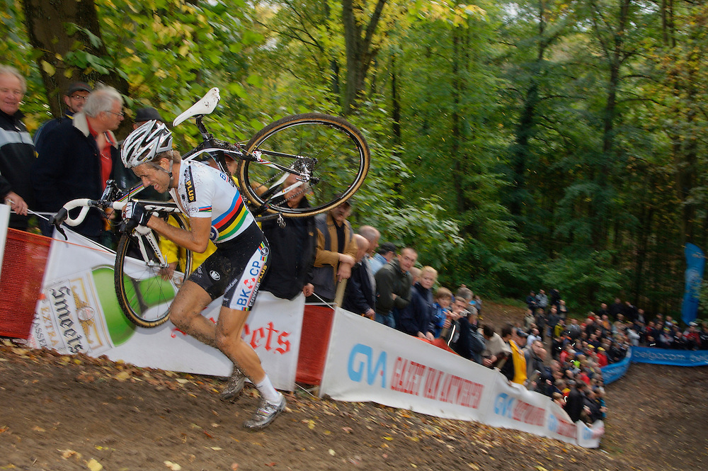 GVA Trofee cyclocross in the Citadelle at Namur, Belgium. October 2009