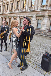 Kylie Minogue dancing at The Royal Academy of Arts Summer Exhibition Preview Party 2019, Burlington House, Piccadilly, London England. 04 June 2019.