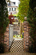 Iron gate of historic home in Charleston, SC