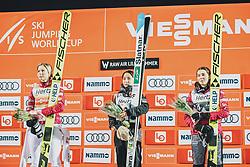 09.03.2020, Lysgards Schanze, Lillehammer, NOR, FIS Weltcup Skisprung, Raw Air, Lillehammer, Damen, Siegerehrung, im Bild Maren Lundby (NOR), Sara Takanashi (JPN), Silje Opseth (NOR) // Maren Lundby of Norway Sara Takanashi of Japan Silje Opseth of Norway during the winner ceremony for the women's 2nd Stage of the Raw Air Series of FIS Ski Jumping World Cup at the Lysgards Schanze in Lillehammer, Norway on 2020/03/09. EXPA Pictures © 2020, PhotoCredit: EXPA/ JFK