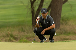 March 23, 2018 - Austin, TX, U.S. - AUSTIN, TX - MARCH 23:  X. Schauffele lines up a par putt during the WGC-Dell Technologies Match Play Tournament on March 22, 2018, at the Austin Country Club in Austin, TX.  (Photo by David Buono/Icon Sportswire) (Credit Image: © David Buono/Icon SMI via ZUMA Press)