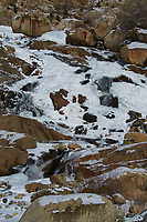 Snow and Ice covered Alluvail Fan in Rocky Mountain National Park Image taken with a Nikon D300 camera and 80-400 mm VR lens (ISO 200, 80 mm, f/32, 1/100 sec).