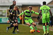 Forest Green Rovers George Williams(11) on the ball during the EFL Sky Bet League 2 match between Forest Green Rovers and Yeovil Town at the New Lawn, Forest Green, United Kingdom on 16 February 2019.