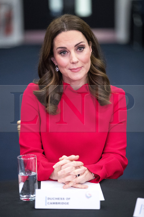 © Licensed to London News Pictures . 06/12/2017 . Manchester , UK . KATE MIDDLETON at a discussion event hosted by the Sesame Street producers . The Duke And Duchess Of Cambridge, Prince William and Kate Middleton, attend the Children's Global Media Summit at the Manchester Central Convention Centre . Photo credit : Joel Goodman/LNP