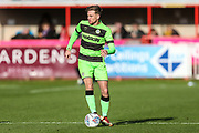 Forest Green Rovers Dayle Grubb(8) during the EFL Sky Bet League 2 match between Exeter City and Forest Green Rovers at St James' Park, Exeter, England on 27 October 2018.