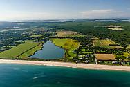 Wainscott Pond, Wainscott, NY Long Island, Atlantic Ocean