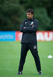 CARDIFF, WALES - Monday, August 13, 2012: Wales' manager Chris Coleman during a training session at the Vale of Glamorgan ahead of the international friendly match against Bosnia-Herzegovina. (Pic by David Rawcliffe/Propaganda)