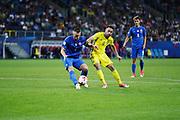 LUBLIN, POLAND - 2017-06-22: Slovakiens Milan &Scaron;kriniar och Sveriges Muamer Tankovic  under UEFA U21 matchen mellan Slovakien och Sverige p&aring;  Arena Lublin den 22 juni, 2017 i Lublin, Polen. <br /> Foto: Nils Petter Nilsson/Ombrello<br /> Fri anv&auml;ndning f&ouml;r kunder som k&ouml;pt U21-paketet.<br /> Annars Betalbild.<br /> ***BETALBILD***