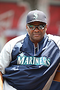 ANAHEIM, CA - JULY 20:  Manager Lloyd McClendon #23 of the Seattle Mariners looks on during the game against the Los Angeles Angels of Anaheim at Angel Stadium on Sunday, July 20, 2014 in Anaheim, California. The Angels won the game 6-5. (Photo by Paul Spinelli/MLB Photos via Getty Images) *** Local Caption *** Lloyd McClendon