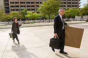 "19 JULY 2012 - PHOENIX, AZ:    STANLEY YOUNG, attorney for the plaintiffs suing Maricopa County Sheriff Joe Arpaio walks into the courthouse on the first day of a class action lawsuit, Melendres v. Arpaio in Phoenix Thursday. The suit, brought by the ACLU and MALDEF in federal court against Maricopa County Sheriff Joe Arpaio, alleges a wide spread pattern of racial profiling during Arpaio's ""crime suppression sweeps"" that targeted undocumented immigrants. U.S. District Judge Murray Snow granted the case class action status opening it up to all Latinos stopped by Maricopa County Sheriff's Office deputies during the crime sweeps. The case is being heard in Judge Snow's court.PHOTO BY JACK KURTZ"