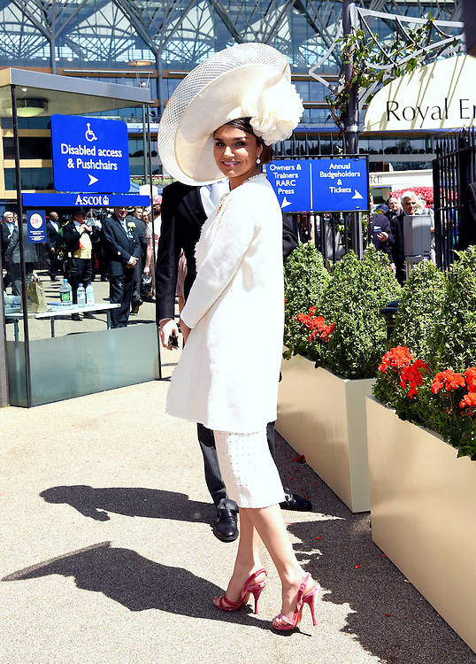 Samantha Barks attends Royal Ascot Ladies Day at Ascot Racecourse, Ascot, Berkshire on Thursday 18 June 2015