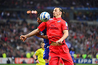 Zlatan IBRAHIMOVIC / Gilles CIONI - 11.04.2015 -  Bastia / PSG - Finale de la Coupe de la Ligue 2015<br />Photo : Dave Winter / Icon Sport