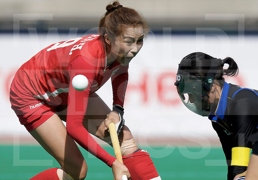 ROTTERDAM - Hock World League Semi Final Women<br /> Japan v Korea<br /> foto: Korea KIM Jong Hee<br /> FFU PRESS AGENCY COPYRIGHT FRANK UIJLENBROEK