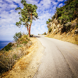Catalina Island Wrigley Road in the mountains. Wrigley Road is a popular tourist route that winds through the mountains of Catalina Island in Avalon California.