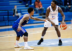 Lamont Jones of KK Mornar vs Elijah Johnson of Cibona during basketball match between KK Cibona Zagreb (CRO) and KK Mornar (MNE) in Round #4 of FIBA Champions League 2016/17, on November 9, 2016 in Drazen Petrovic Basketball center, Zagreb, Croatia. Photo by Vid Ponikvar / Sportida
