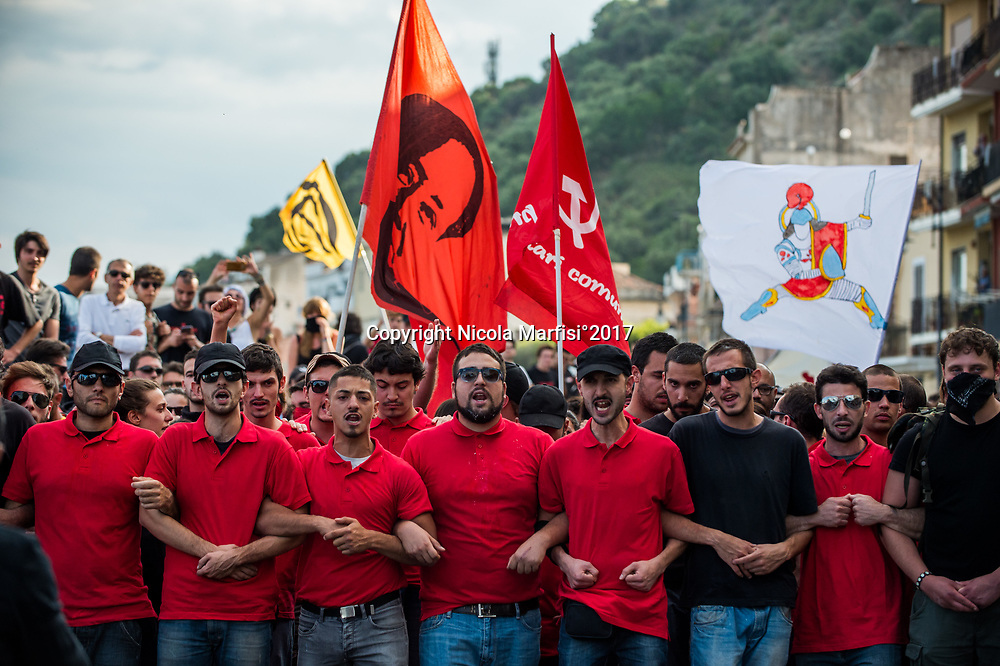 Taormina 27-05-2017 G7, Demonstration of No Borders against the G7 Summit in Giardini Naxos