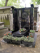 Memorial stone for composer Hector Berlioz (1803-1869) Montmartre Paris