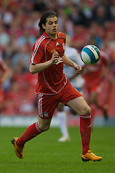 LIVERPOOL, ENGLAND - Wednesday, May 7, 2008: Liverpool's Jordy Brouwer in action against Aston Villa during the play-off final of the FA Premier League Reserve League at Anfield. (Photo by David Rawcliffe/Propaganda)