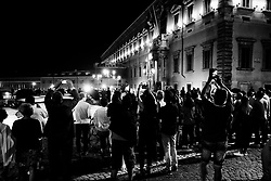 People gather in front of Quirinale Palace as Giuseppe Conte is designated Prime Minister on May 31, 2018 in Rome, Italy.  Christian Mantuano / OneShot