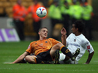 Photo: Rich Eaton.<br /> <br /> Wolverhampton Wanderers v Luton Town. Coca Cola Championship. 26/08/2006. Daniel Jones left of Wolves and Richard LAngley of Luton go for the ball