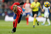 Atletico Madrid's French forward Antoine Griezmann is tackled during the Spanish Championship Liga football match between Atletico de Madrid and Real Sociedad on December 2, 2017 at the Wanda Metropolitano stadium in Madrid, Spain - Photo Benjamin Cremel / ProSportsImages / DPPI