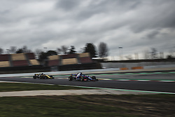 March 1, 2018 - Barcelona, Catalonia, Spain - PIERRE GASLY (FRA) drives in his Toro Rosso STR13 during followed by NICO HULKENBERG (GER) in his Renault RS18 day four of Formula One testing at Circuit de Catalunya (Credit Image: © Matthias Oesterle via ZUMA Wire)