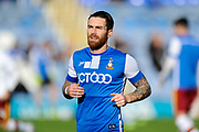 Romain Vincelot (6) of Bradford City warming up before the EFL Sky Bet League 1 match between Portsmouth and Bradford City at Fratton Park, Portsmouth, England on 28 October 2017. Photo by Graham Hunt.