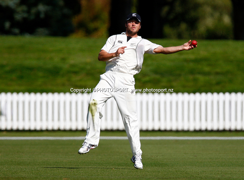 New Zealand's Daniel Flynn fields during a cricket match between New Zealand A and England A, Bert Sutcliffe Oval, Lincoln, New Zealand. 9 March 2009. Photo:Simon Watts/PHOTOSPORT